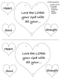 Deuteronomy 6 5 Coloring Page Google Search Preschool Bible