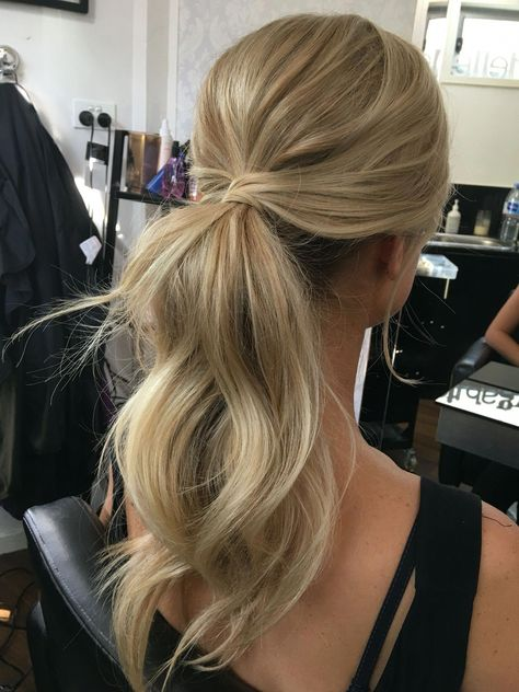 Pony tail , hairstyles, bridal hair style, messy ponytail #promUpdos