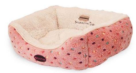 Ropa y camas perros. | Cama súper suave lunares rosa