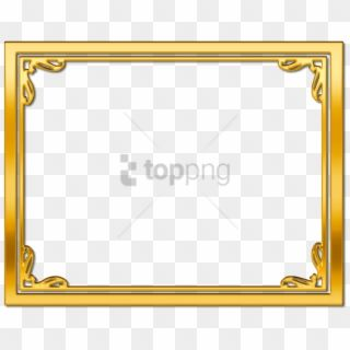 Free Png Gold Border Png Png Image With Transparent Gold Frame Border Png Png Download Gold Frame Border Gold Glitter