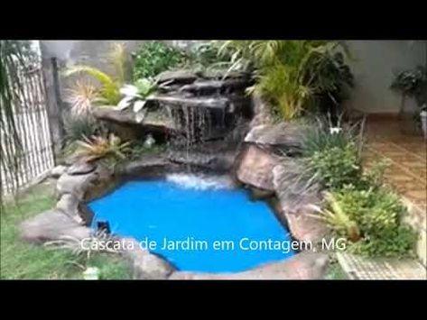 Cascata artificial de jardim em Contagem MG - YouTube