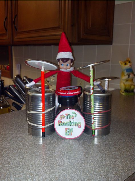 Elf playing the drums