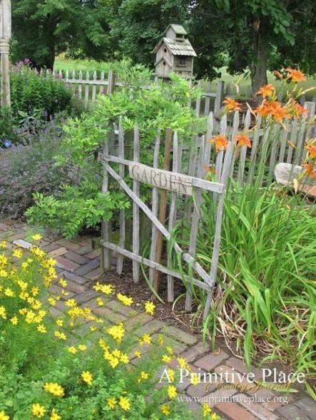 20 Ideas Garden Fence Rustic Plants Plants Garden Farmhouse