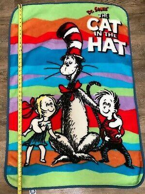 Details About 2003 Dr Seuss Cat In The Hat Throw Blanket Fleece