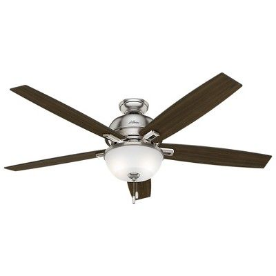 Hunter fan 15 5 x 27 x 10 25 inch brushed nickel chrome lighted ceiling fans