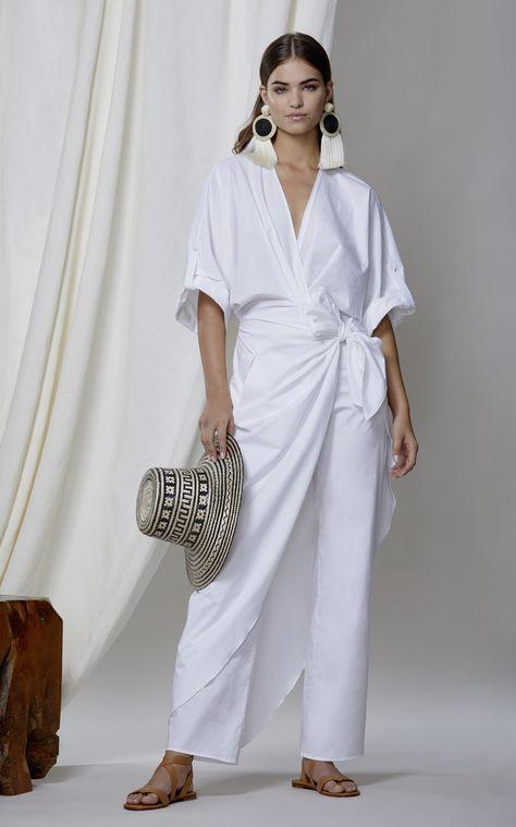 M'O Exclusive Lewis Carroll Cotton Poplin Jumpsuit by JOHANNA ORTIZ for Preorder on Moda Operandi