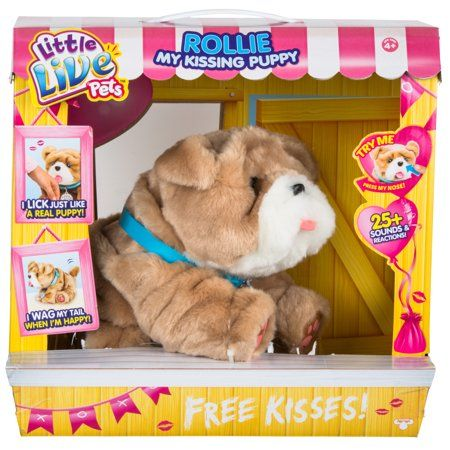 Little Live Pets My Kissing Puppy Rollie Image 2 Of 9 Little Live Pets Puppy Plush Toys Puppy Kisses