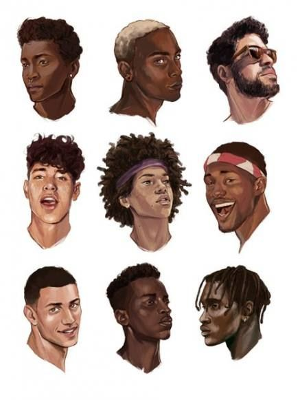 Digital Art Male Robots In 2020 Black Women Hairstyles Mens Hairstyles Drawing Hair Tutorial