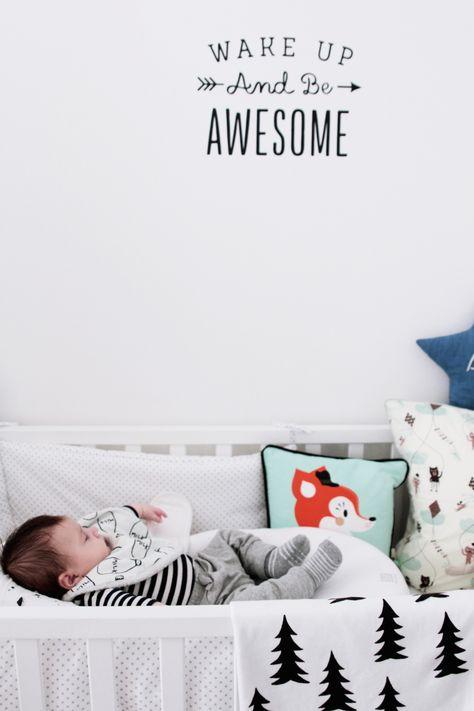 Chambre Enfant Scandinave Noir Et Blanc Black White Kidsroom