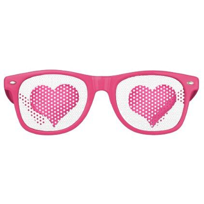 Hot Poink Watercolor Heart Retro Sunglasses | Watercolor heart