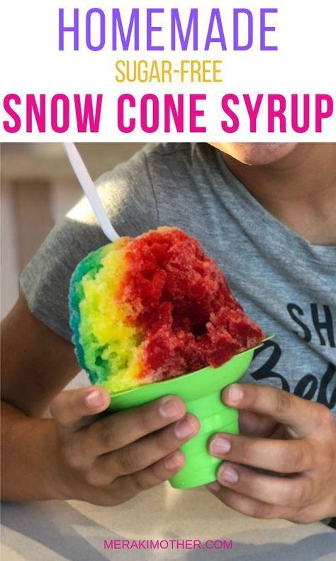 Sugar Free Simple Syrup Recipe Snow Cone Syrup Shave Ice