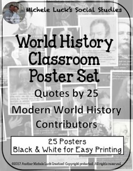 Modern World History Quotes Posters Bulletin Board Wall