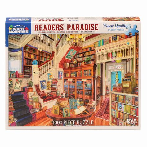 White Mountain Puzzles Readers Paradise Jigsaw Puzzle 1000 Piece -- Learn more by clicking the image link.