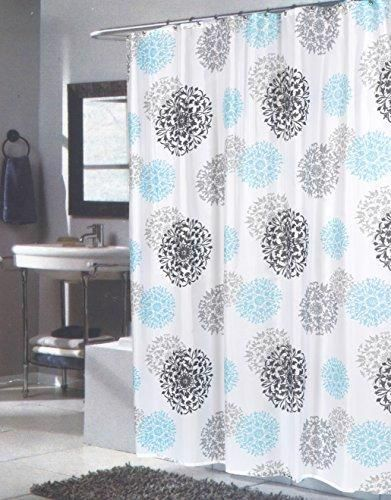 Benandjonah Collection Fabric Extra Long Shower Curtain 70 X 84