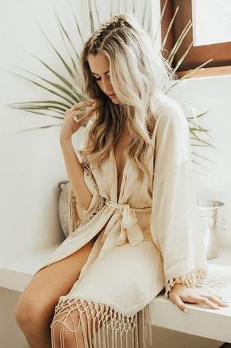 Vendela Ivory Satin Eco Friendly Robe Bride Gift | Camas Lilly Co. | Sustainable Robes  Gifts | bridal robe getting ready, long bridal robe, bridal robe ideas, satin bridal robe, bridal robe getting ready wedding, boho bridal robe, boho bridal party robe, boho bridesmaid robe, sustainable bridal wear, sustainable wedding eco friendly, zero waste bridal party
