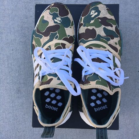 size 40 0d0a7 6899e BAPE inspired custom hand painted Adidas NMD R1 with the iconic BAPE  camouflage. This amazing design will be available for a limited time only!