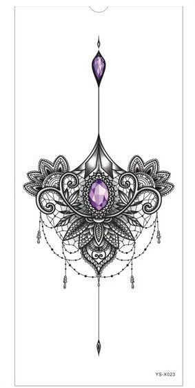 1pc new Chest tattoo stickers large flower shoulder arm Sternum tattoos sleeve b