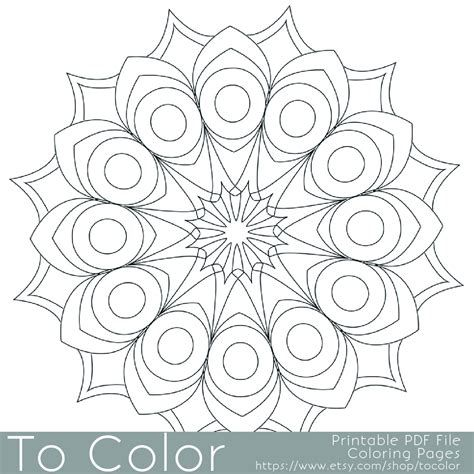 Free Printable Coloring Pages For Senior Adults Geometric