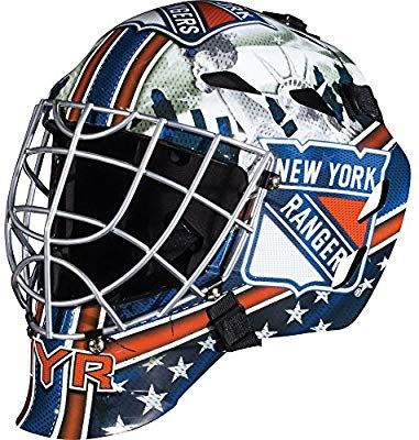 Amazon Com Franklin Sports Nhl New York Rangers Gfm 1500 Goalie Face Mask Sports Outdoors With Images New York Rangers Street Hockey Franklin Sports
