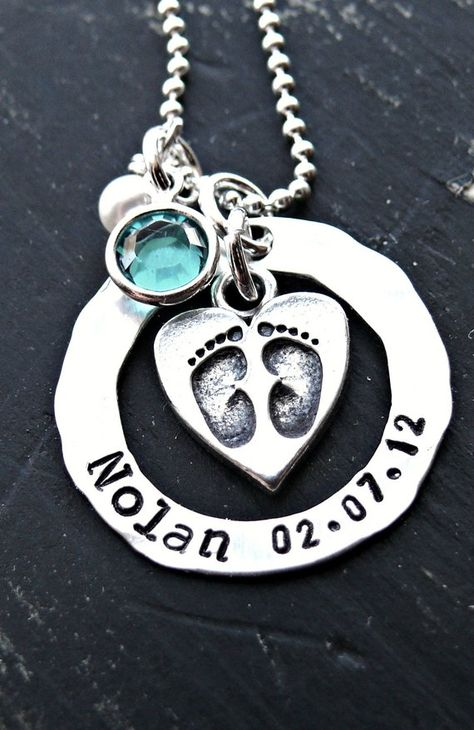 Personalized Baby Foot Necklace