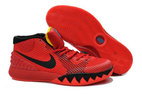 9ebe0ec12f69 2018 New Nike Kyrie 1 Deceptive Red Bright Crimson Black University Red  Black