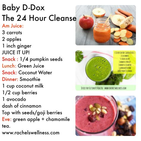 Grab you LIQUID 24 hour detox - simple and easy.  For a more detailed detox with whole foods, check out www.rachelswellness.com