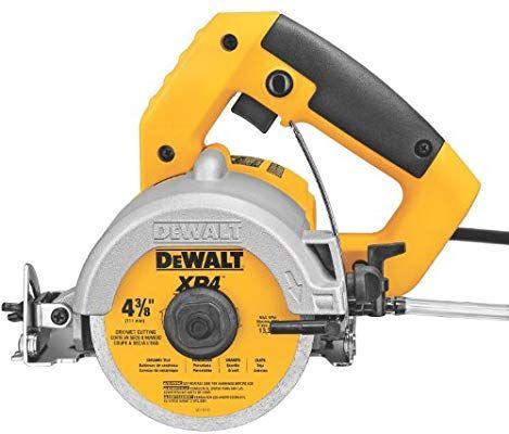 Dewalt Dwc860w 4 3 8 Inch Wet Dry Masonry Saw Power Masonry Saws Amazon Com Tile Saw Dewalt Tile Saws