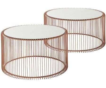Metall Couchtisch 2er Set Wire Mit Glasplatte En 2020 Table Basse Table Basse Ronde Table Basse Zara Home