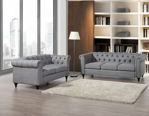Chesterfield Sofa and Loveseat Set   Living room sets, Sofa