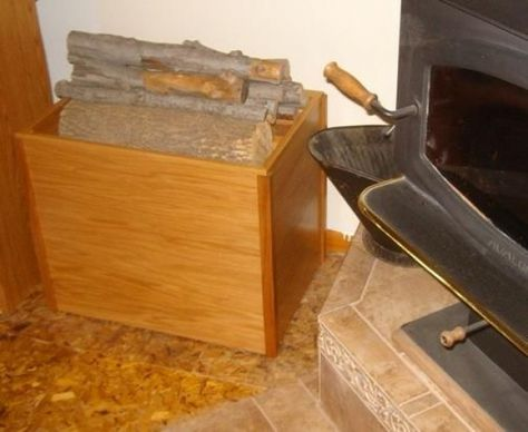 Free Firewood Storage Box Plans - How to Build A Firewood Storage Box #shedplans
