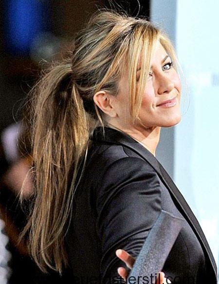 35 Schone Lange Gerade Ponytail Frisuren Pferdeschwanz Frisuren Jennifer Aniston Haar Geflochtene Frisuren