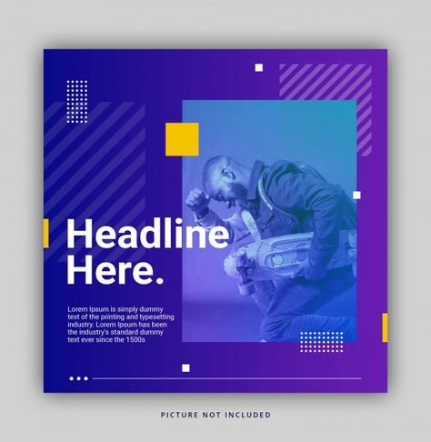 Bright Gradient Color Trendy Dynamic Instagram Banner Template