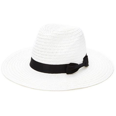 2d25b78c2b71b Forever 21 Women s Wide-Brim Straw Fedora ( 15) ❤ liked on Polyvore  featuring