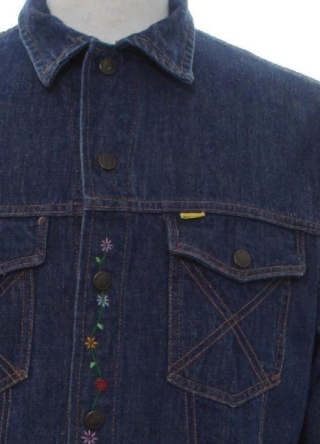 939ac9d7c7a8 1960's Vintage Big Yank Western Style Sanforized Jacket: 60s -Big Yank  Western Style Sanforized- Mens dark blue cotton denim western style jacket  with waist ...