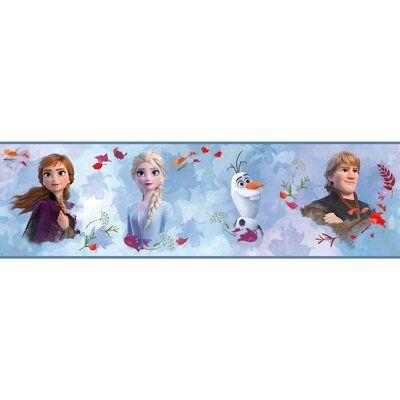 Room Mates Frozen 2 1 75 L X 5 W Smooth Wallpaper Border Wayfair Ca Peel And Stick Wallpaper Wallpaper Border Frozen Room