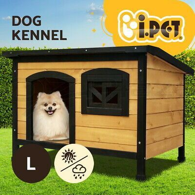 I Pet Dog Kennel Kennels Outdoor Wooden Pet House Cabin Puppy