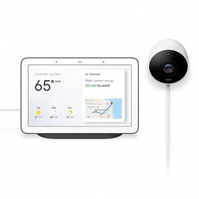 Google Home Hub And Nest Cam Outdoor Security Camera Bundle