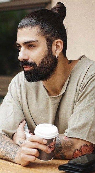 Man Bun With Thick Beard For Men Latest Beard Styles Viking Beard Styles Faded Beard Styles