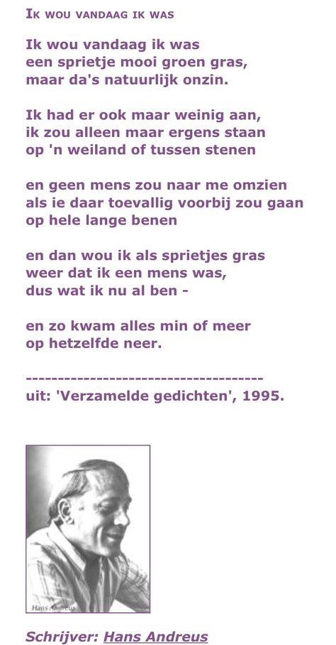 Hans Andreus Ik Wou Vandaag Ik Was Mooie Gedichten En