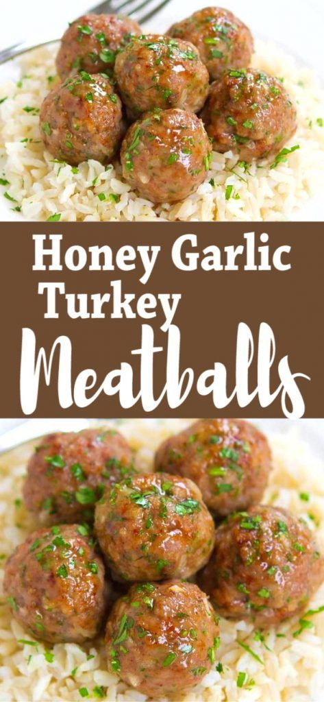 Honey Garlic Baked Turkey Meatballs Easy Dinner Recipe Recipe In 2020 Healthy Turkey Recipes Ground Turkey Recipes Healthy Health Dinner Recipes