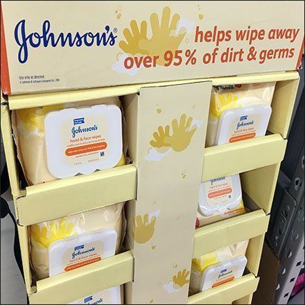 Johnson S Baby Wipes Corrugated Floor Display Johnsons Baby