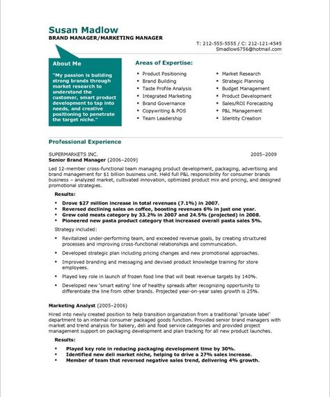 Brand Analyst Sample Resume Fiona Chin Fiona078 On Pinterest