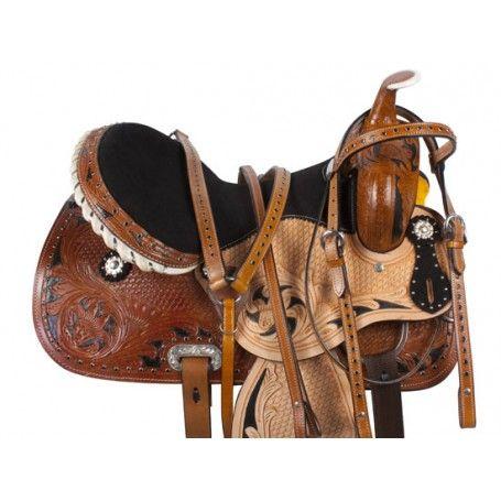 Western Horse Saddle Beautiful Pleasure Trail Used Barrel Tack Set 14 15 16 17