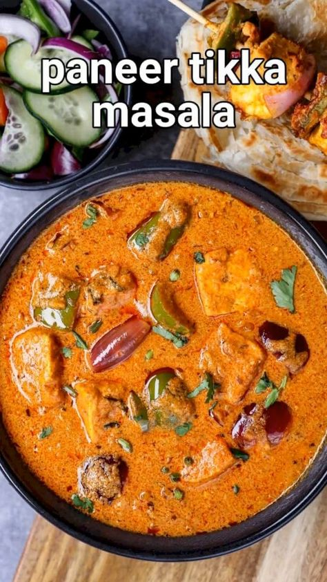 paneer tikka masala recipe | paneer tikka gravy sabji restaurant style with detailed photo and video recipe. perhaps one of the favourite and popular north indian or punjabi paneer gravy recipes. it is a unique curry recipe that is known for its tikka sauce and roasted flavour derived from the roasting of paneer skewers. it is a versatile curry recipe and is ideally served with roti or naan, but can also be served with a choice of flavoured rice like pulao and jeer rice.