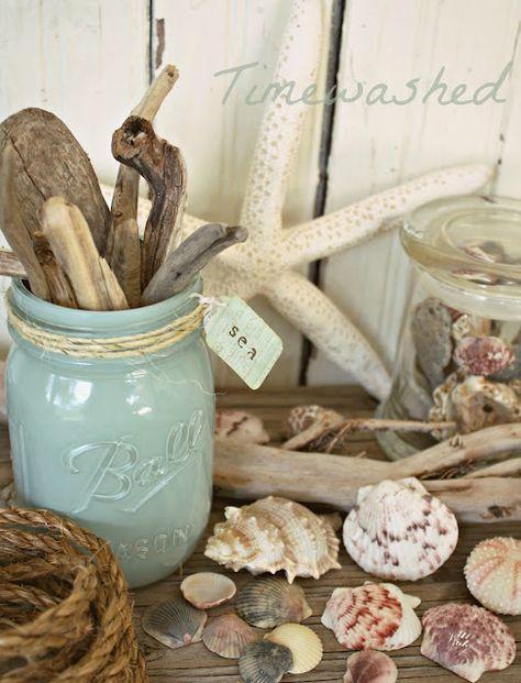 beach themed jar