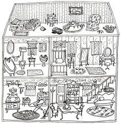 Dollhouse Coloring Pages Coloring Pages Wallpaper Coloring Pages Coloring Book Pages House Colouring Pages