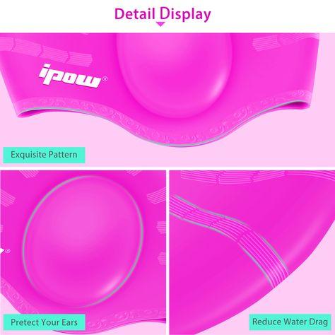 IPOW Ladies¡¯ Swim Cap Hat a9f0df8304f