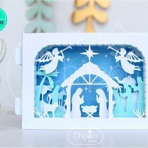 Christmas Lantern Decoration Svg Nativity Lantern Luminary Etsy Christmas Cards Pop Up Christmas Cards Christmas Card Template