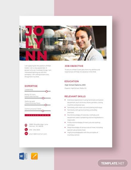 Meat Cutter Resume Examples