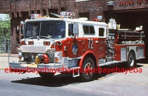 New York FD Ladder 13 1963 Seagrave 100' TDA Fire Apparatus